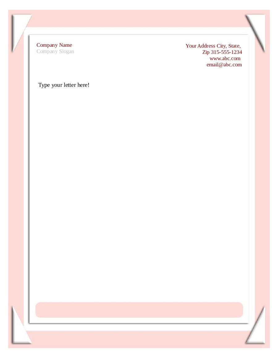 020 Template Ideas Free Printable Letterhead Templates Sample - Free Printable Letterhead Templates