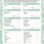 021 Free Printable Budget Templates Template Ideas Worksheets For   Free Printable Budget Worksheets
