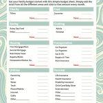 021 Free Printable Budget Templates Template Ideas Worksheets For   Free Printable Budget Worksheets