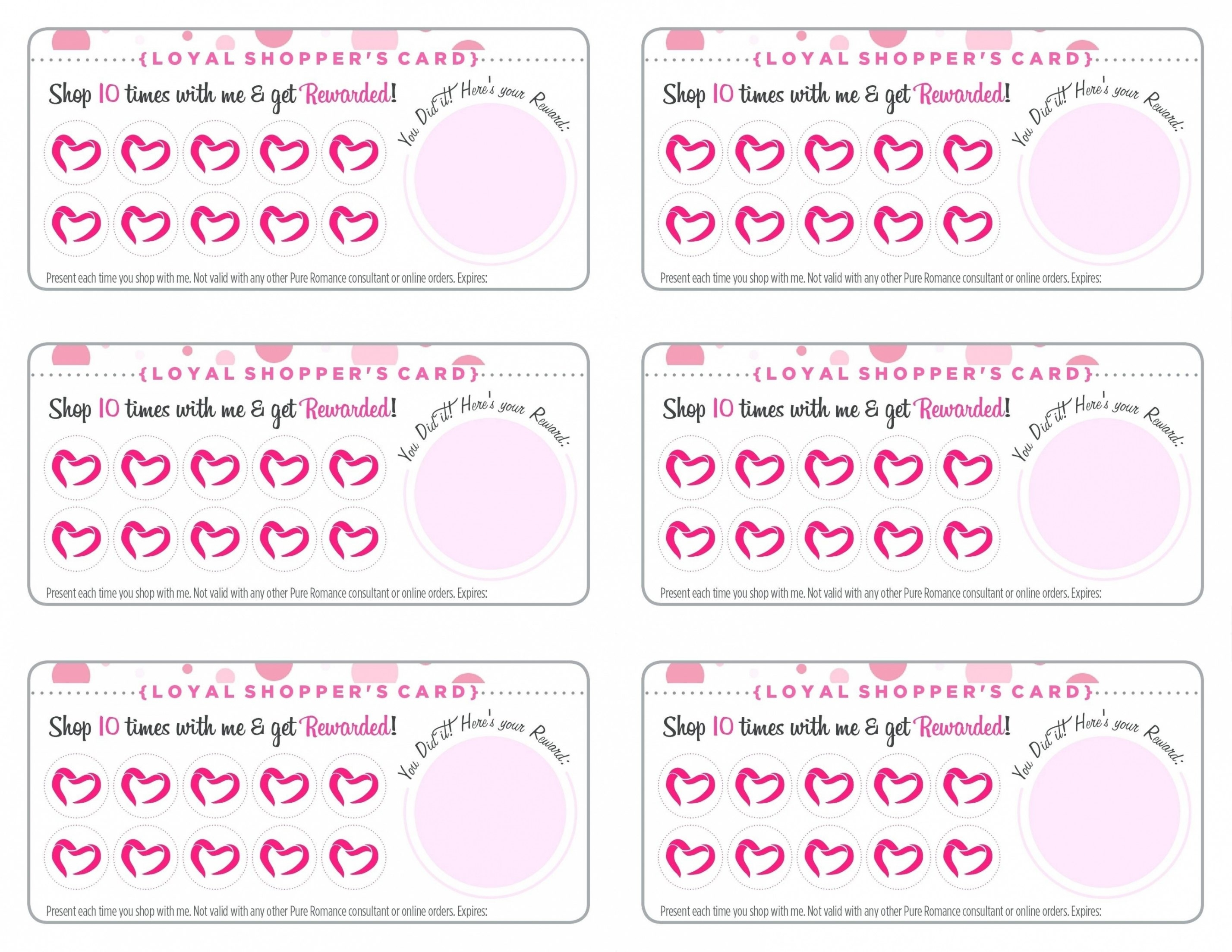 021 Free Printable Card Templates Punch Template Unique Loyalty - Free Printable Loyalty Card Template