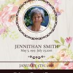 021 Free Printable Funeral Prayer Card Template Floral Thank You In   Free Printable Funeral Prayer Card Template