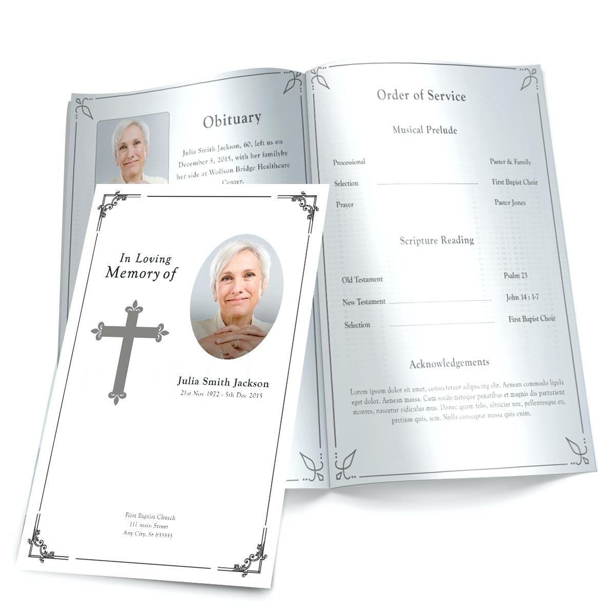 021 Free Printable Funeral Program Template Ideas Programs Templates - Free Printable Funeral Programs