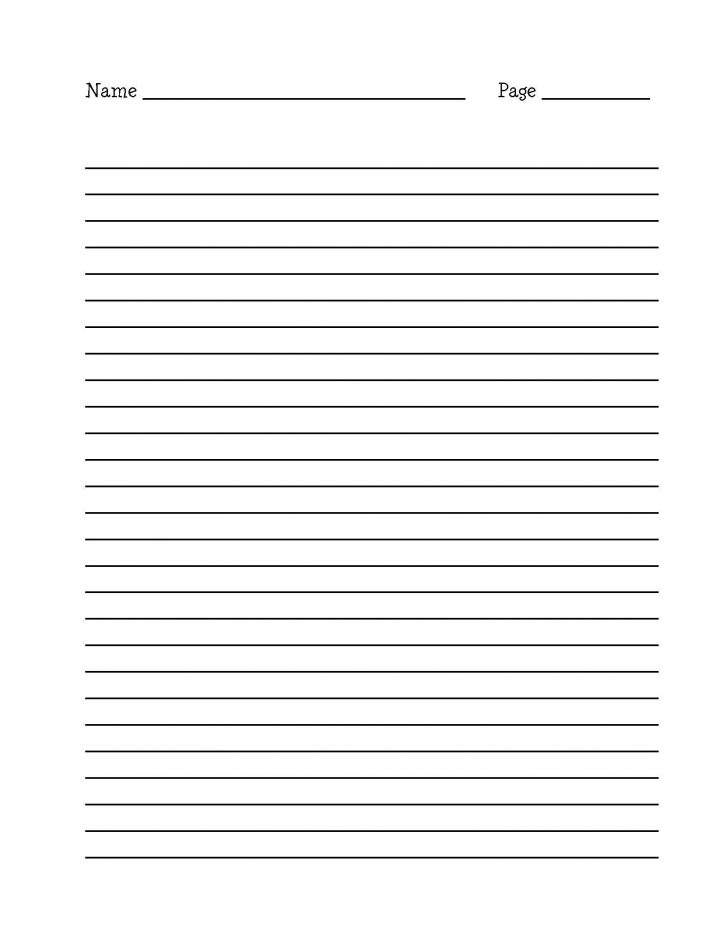 Free Printable Kindergarten Lined Paper Template