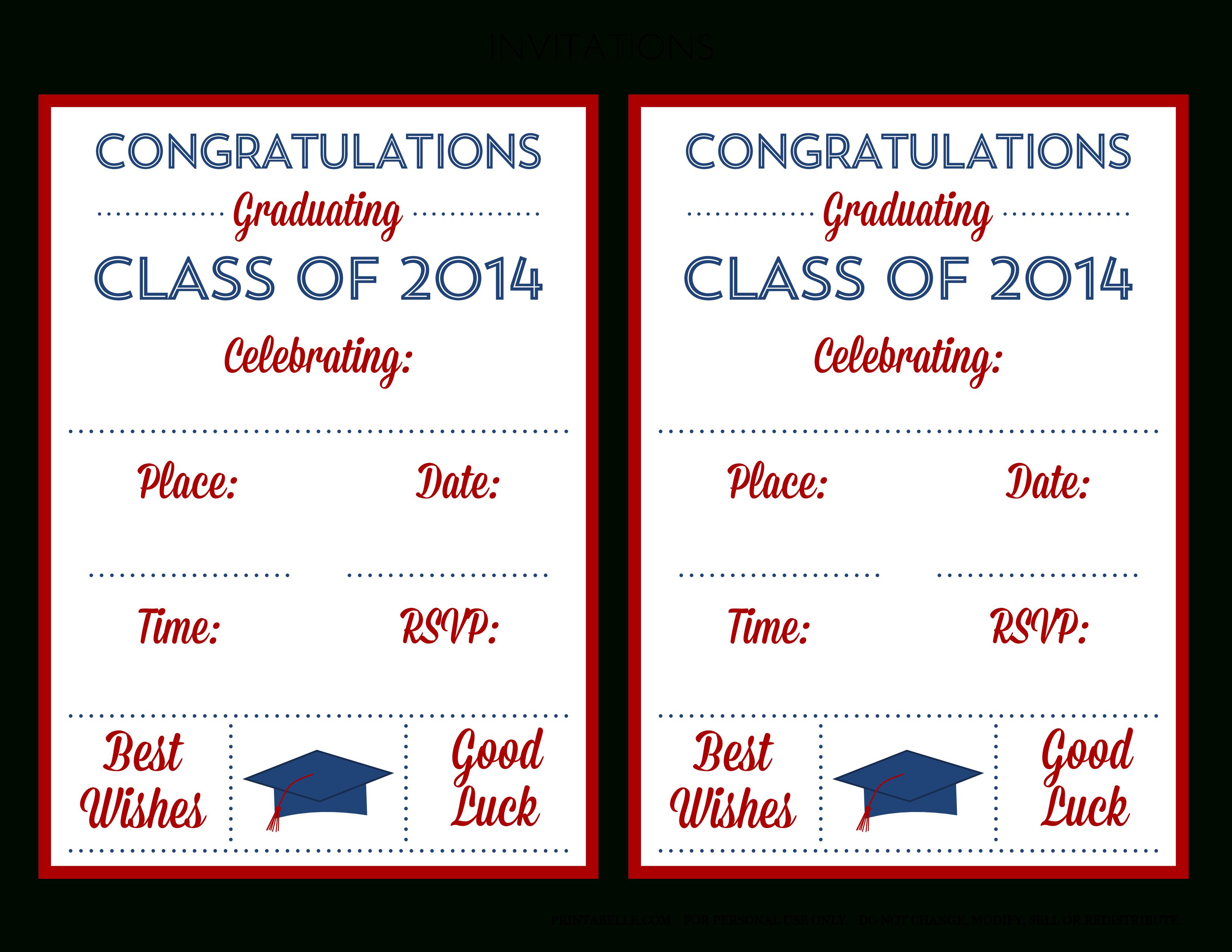 022 Template Ideas Free Printable Graduation Announcement Invitation - Free Printable Graduation Announcements