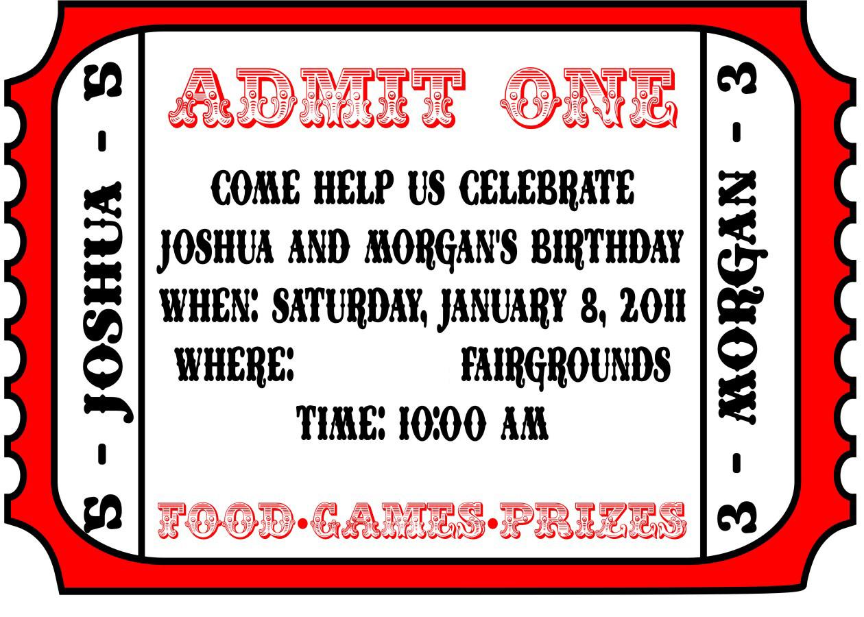 025 Free Printable Movie Ticket Invitations Photo Template Admit One - Create Tickets Free Printable