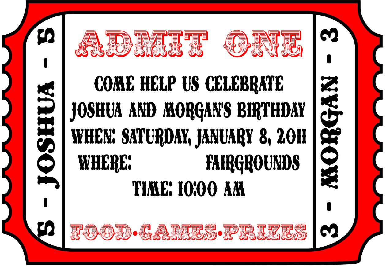 025 Free Printable Movie Ticket Invitations Photo Template Admit One - Free Printable Ticket Invitations