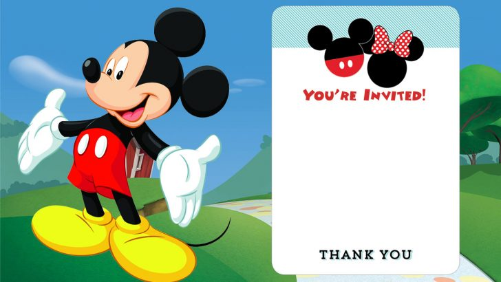 Free Printable Mickey Mouse Birthday Invitations