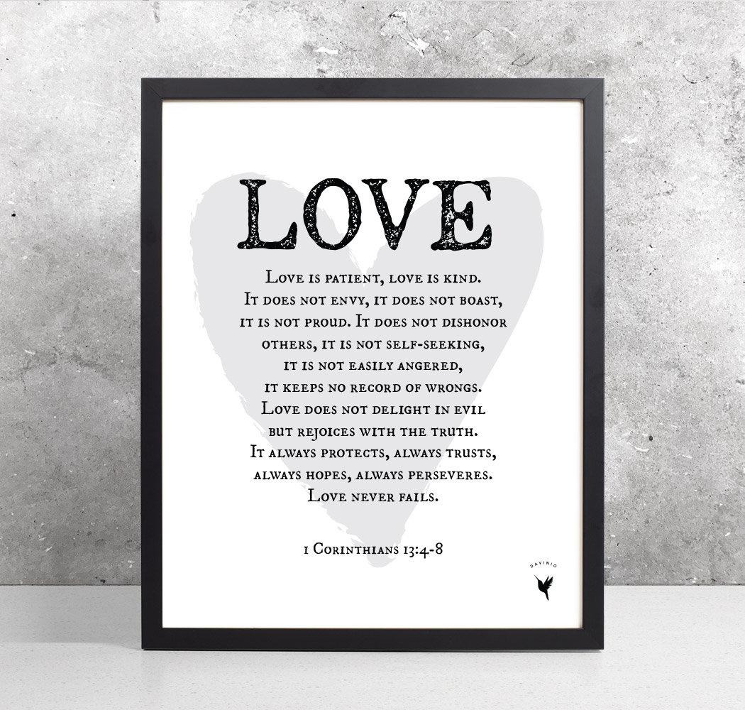 1 Corinthians 13:4-8 [Printable] | Love Is Patient, Love Is Kind - Love Is Patient Free Printable