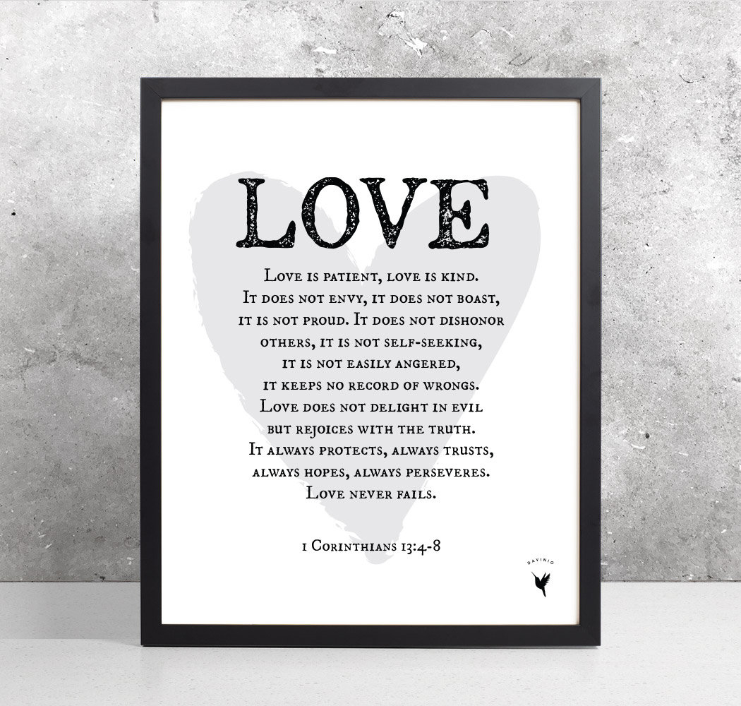 1 Corinthians 13:4-8 [Printable]   Love Is Patient, Love Is Kind - Love Is Patient Love Is Kind Free Printable