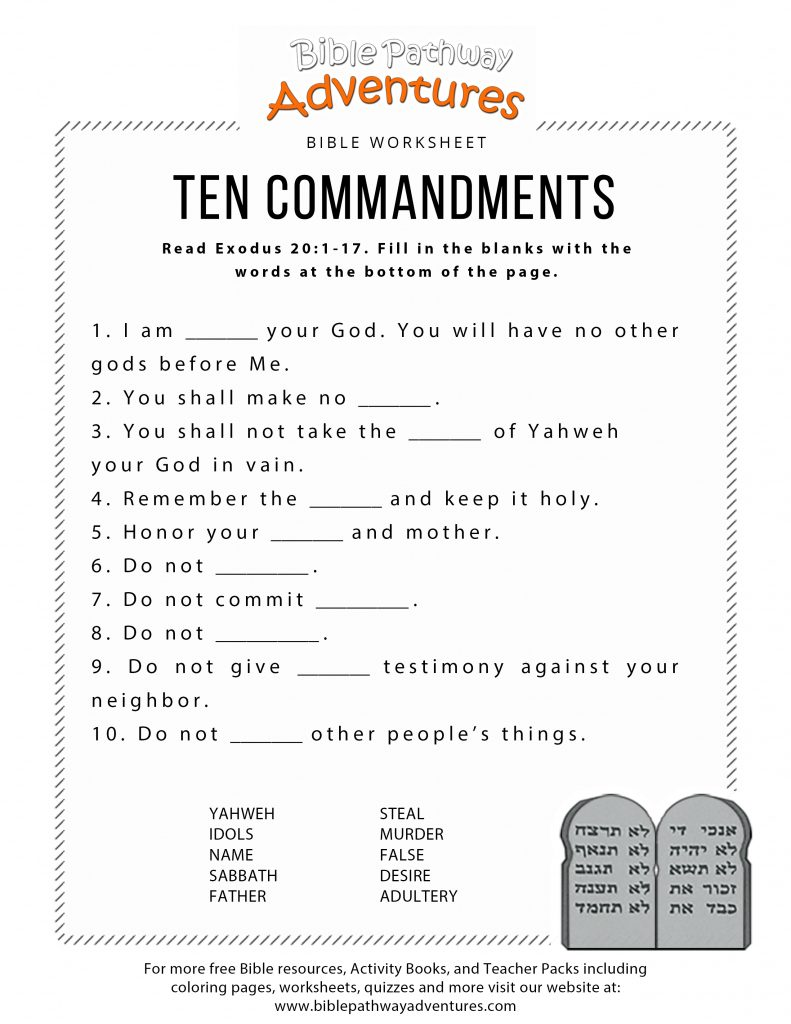graphic about 10 Commandments Printable identify 10 Commandments Printable Worksheets Printable Worksheets