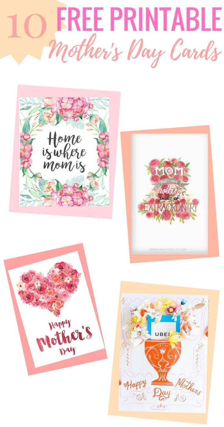 10 Completely Free Printable Mother's Day Cards | Printables - Free Printable Mothers Day Cards To My Wife