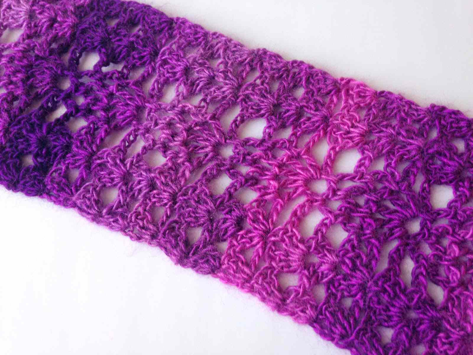 10 Easy Free Crochet Lace Scarf Patterns - Free Printable Crochet Scarf Patterns