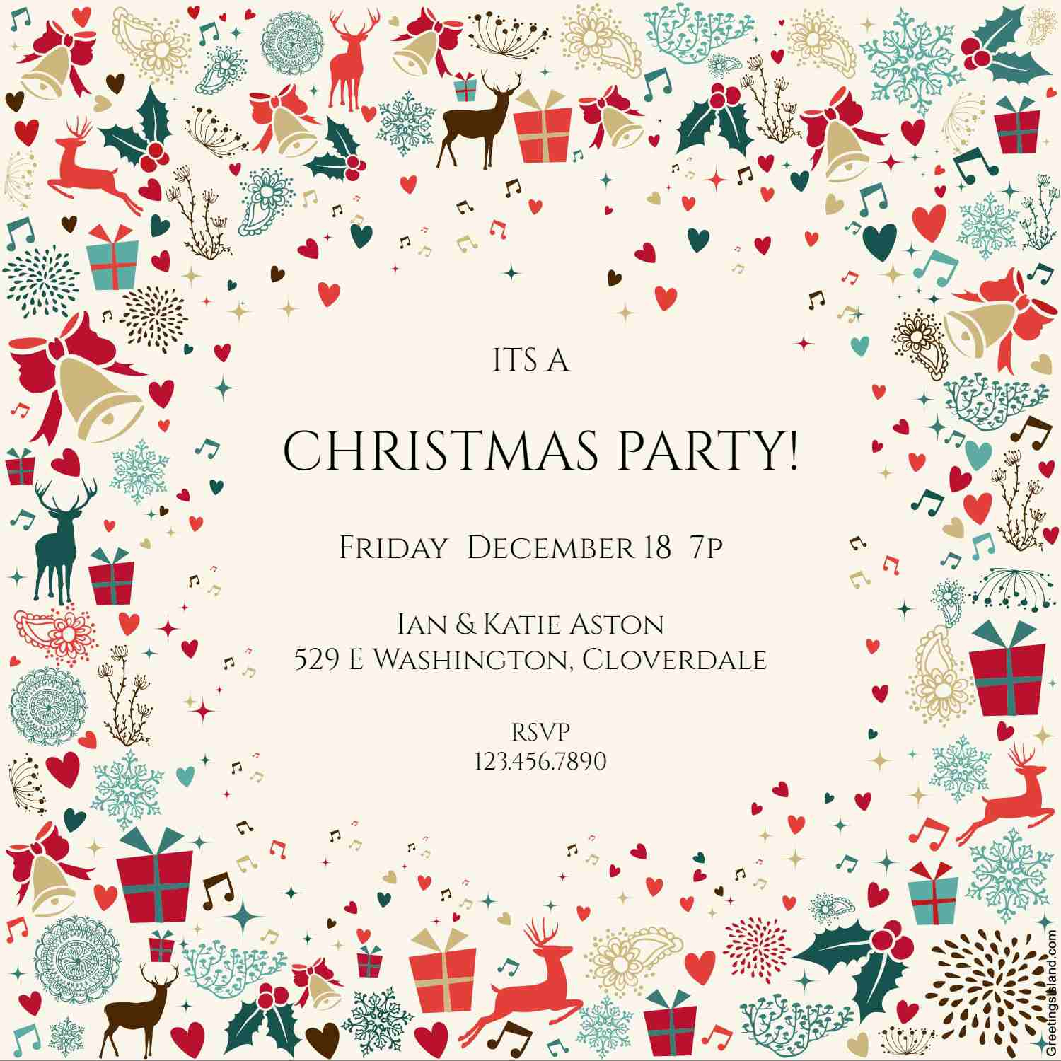 10 Free Christmas Party Invitations That You Can Print - Free Printable Christmas Party Flyer Templates