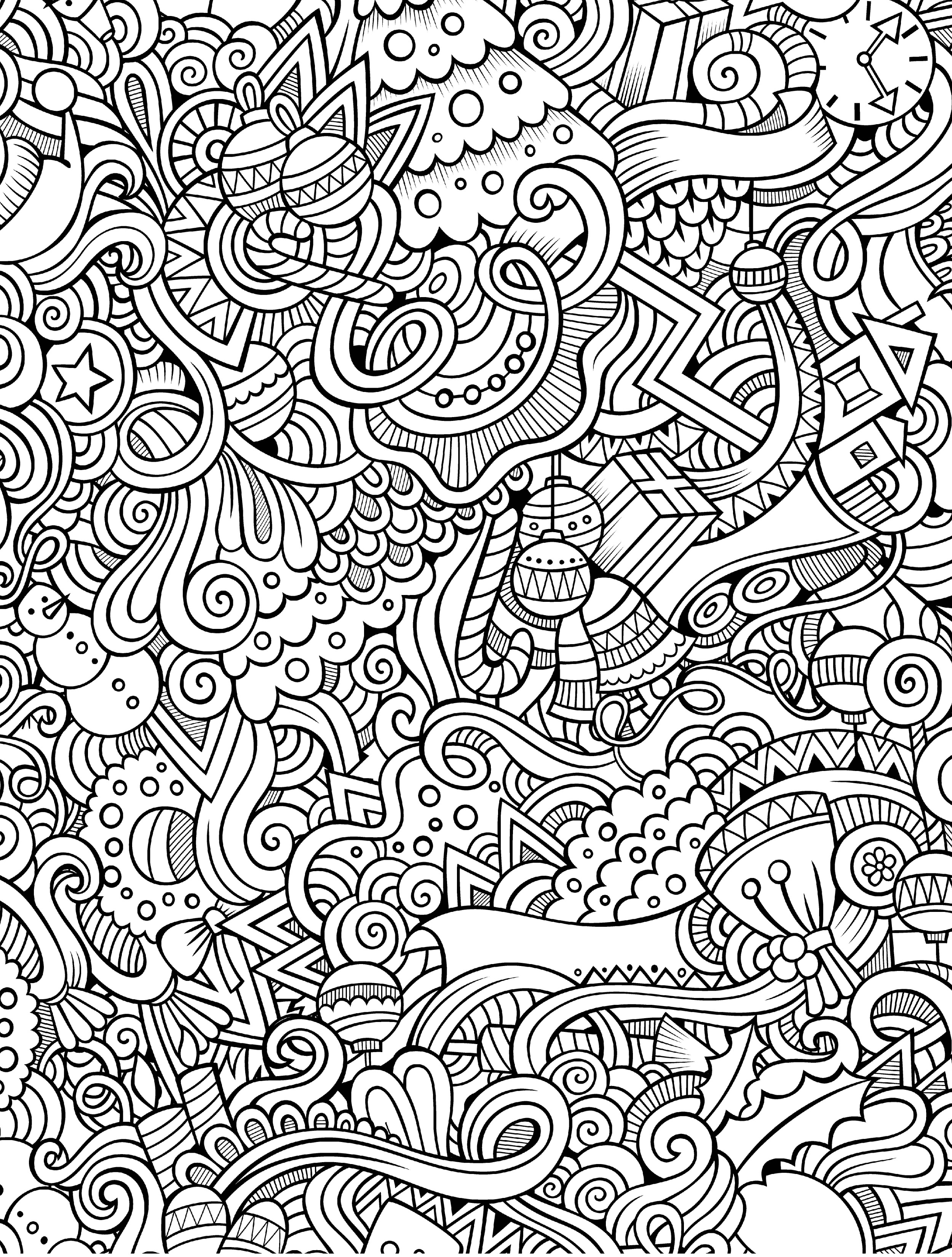 10 Free Printable Holiday Adult Coloring Pages - Free Coloring Pages Com Printable