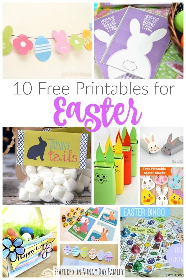 10 Free Printables For Easter: Decorations, Treats, & Games - Free Printable Easter Decorations