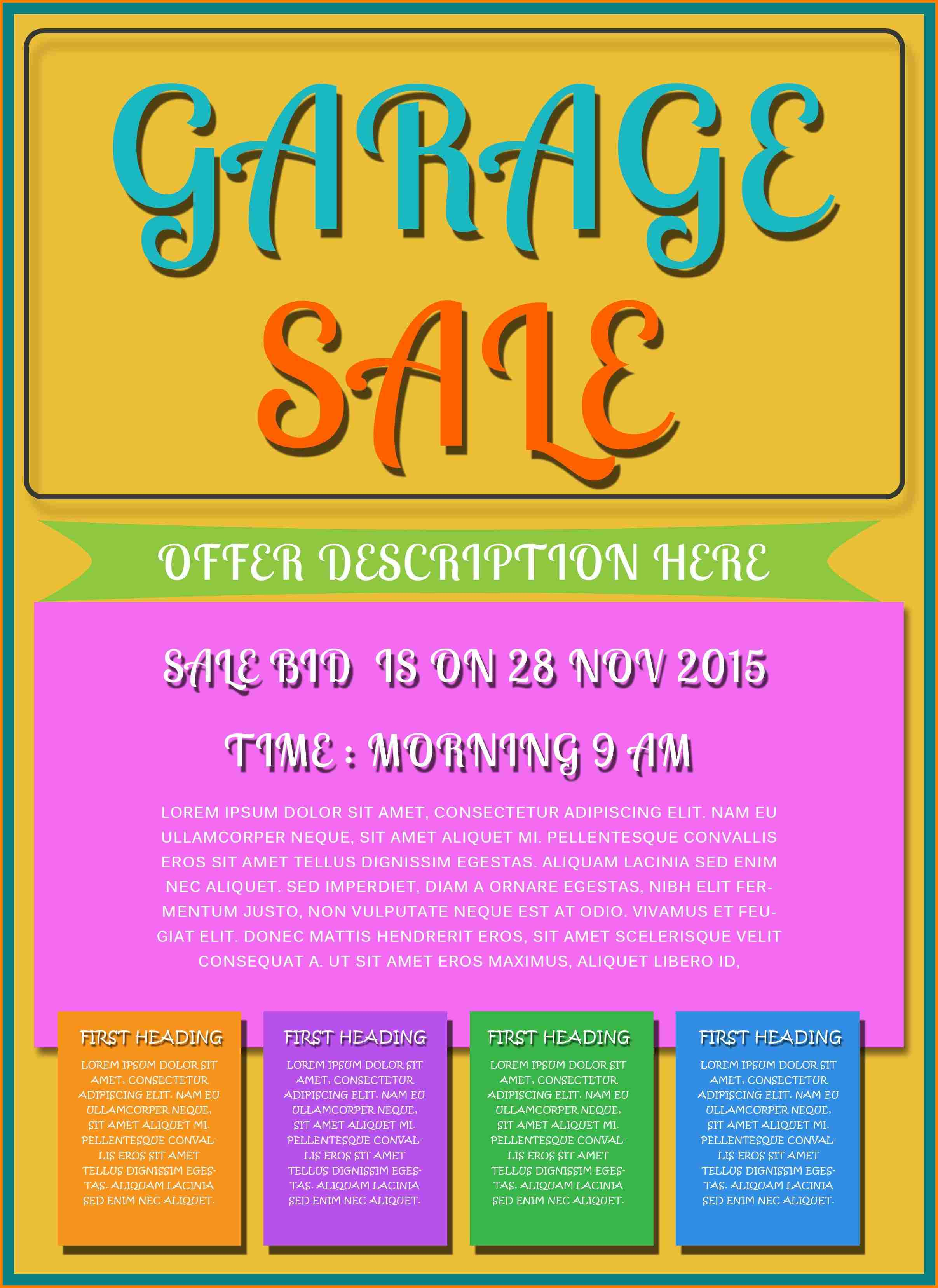 10+ Garage Sale Flyer Template Free | Quick Askips - Free Printable Flyers