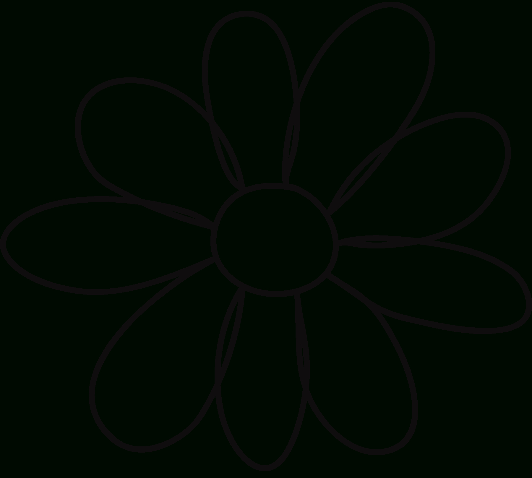 10 Petal Flower Template - Clipart Best - Clipart Best | Quilting - Free Printable Sunflower Template