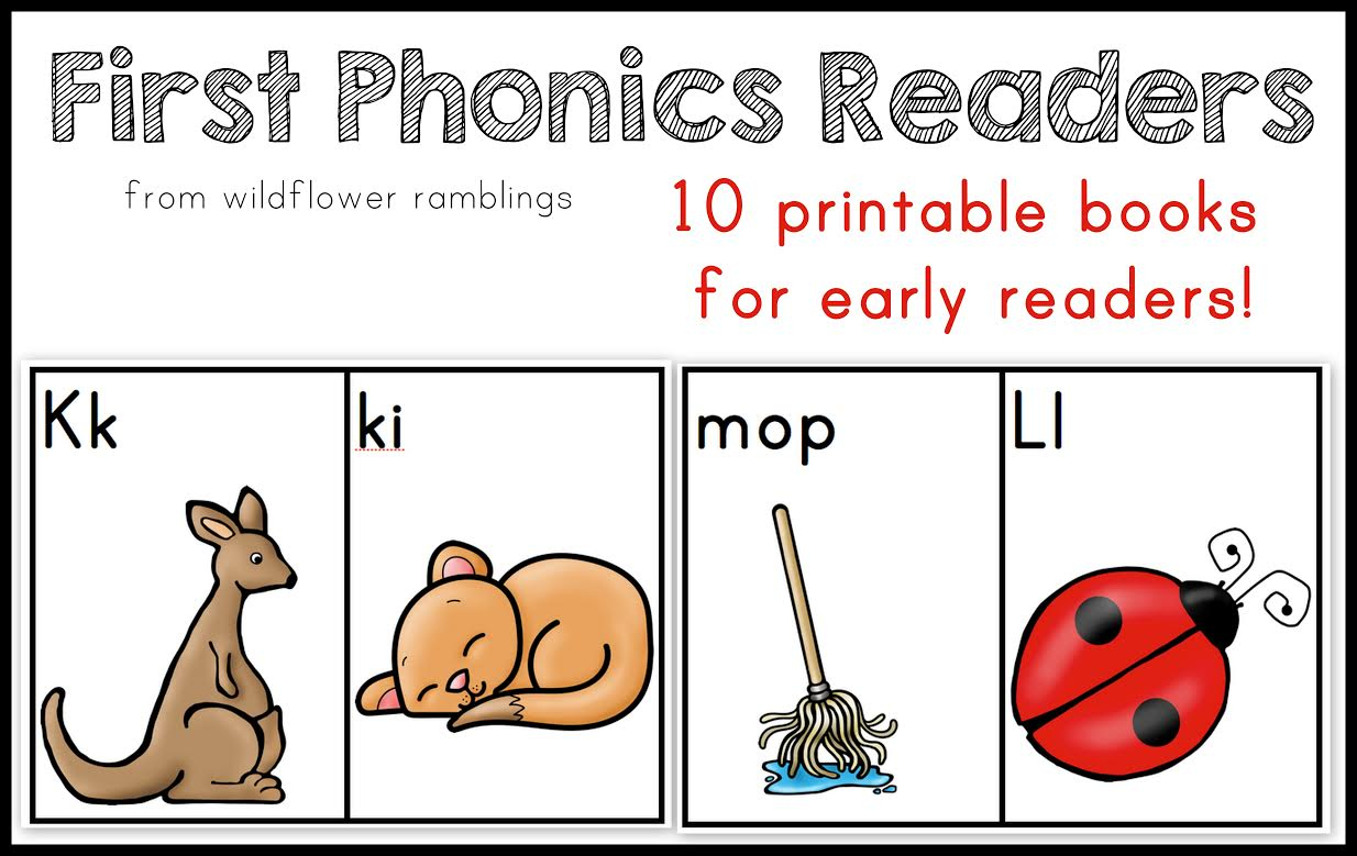 10 Phonics Readers For Early Reading - Free Printable Phonics Books For Kindergarten