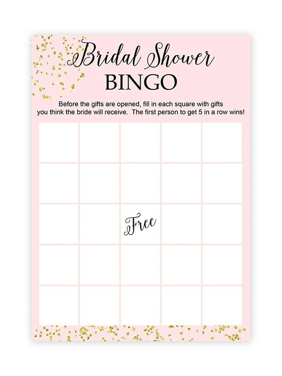 10 Printable Bridal Shower Games You Can Diy | Bachelorette - Free Printable Bridal Shower Bingo