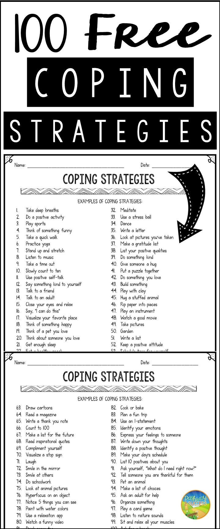 100 Free Coping Strategies | Life Skills | Pinterest | Terapia - Free Printable Anger Management Activities