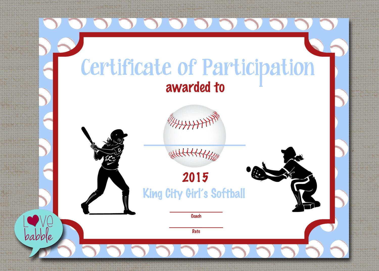 100+ Softball Certificates Award Templates And Coaching Forms - Free Printable Softball Award Certificates