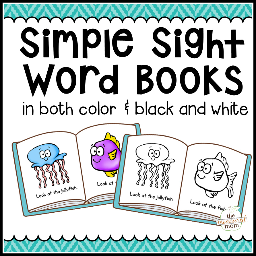 104 Simple Sight Word Books In Color & B/w - The Measured Mom - Free Printable Sight Word Books