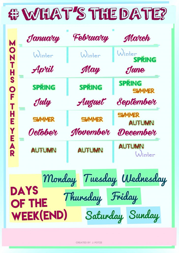 Free Printable Days Of The Week Cards
