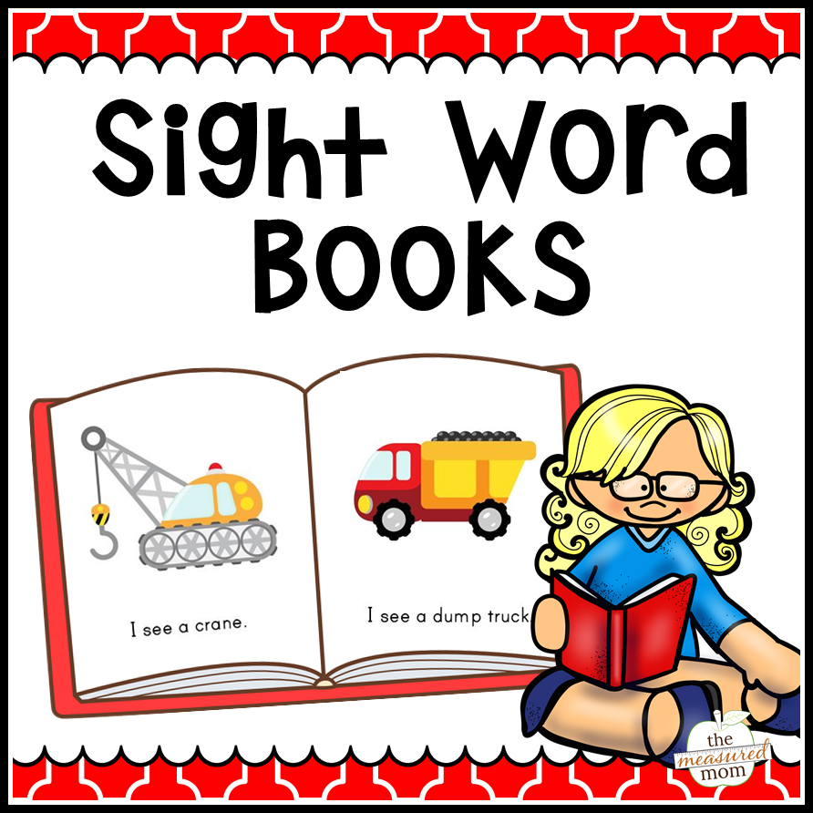 108 Sight Word Books - The Measured Mom - Free Printable Sight Word Books