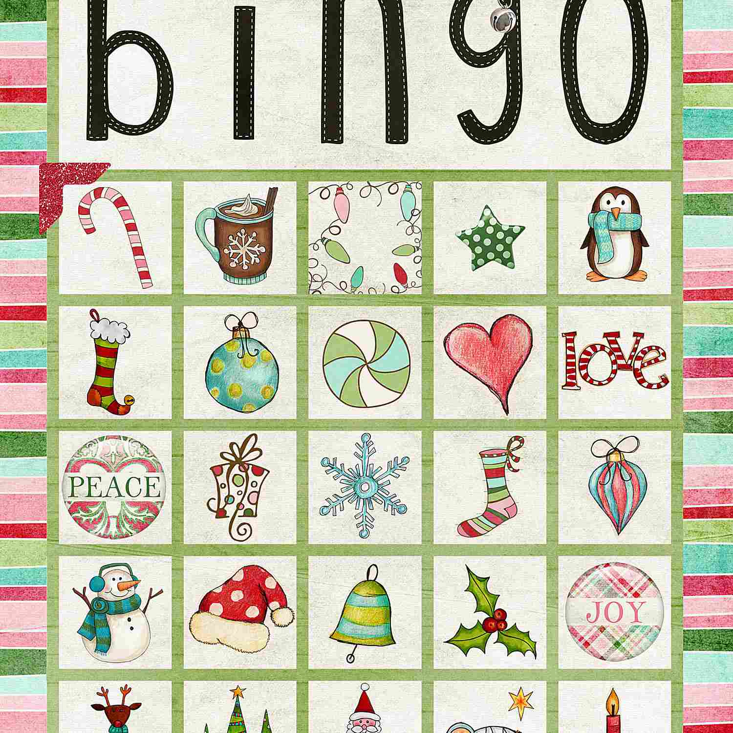 11 Free, Printable Christmas Bingo Games For The Family - Christmas Bingo Game Printable Free
