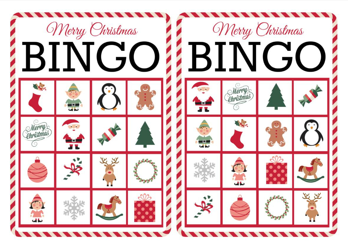 11 Free, Printable Christmas Bingo Games For The Family - Free Printable Christmas Pictures