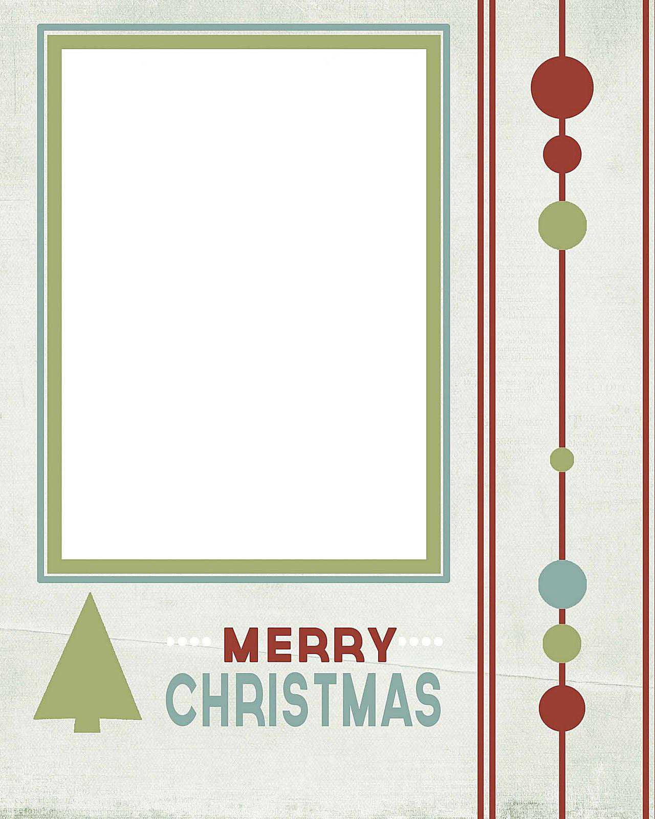 11 Free Templates For Christmas Photo Cards - Free Printable Christmas Card Templates