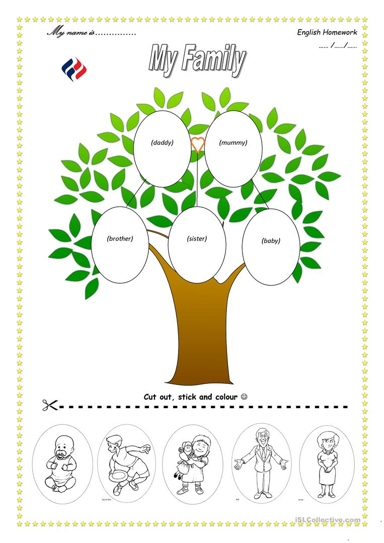 113 Free Esl Family Tree Worksheets - My Family Tree Free Printable Worksheets