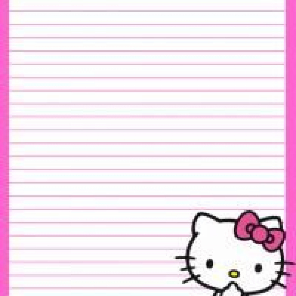 12 Best Photos Of Hello Kitty Printable Stationery Paper - Free - Free Printable Hello Kitty Stationery