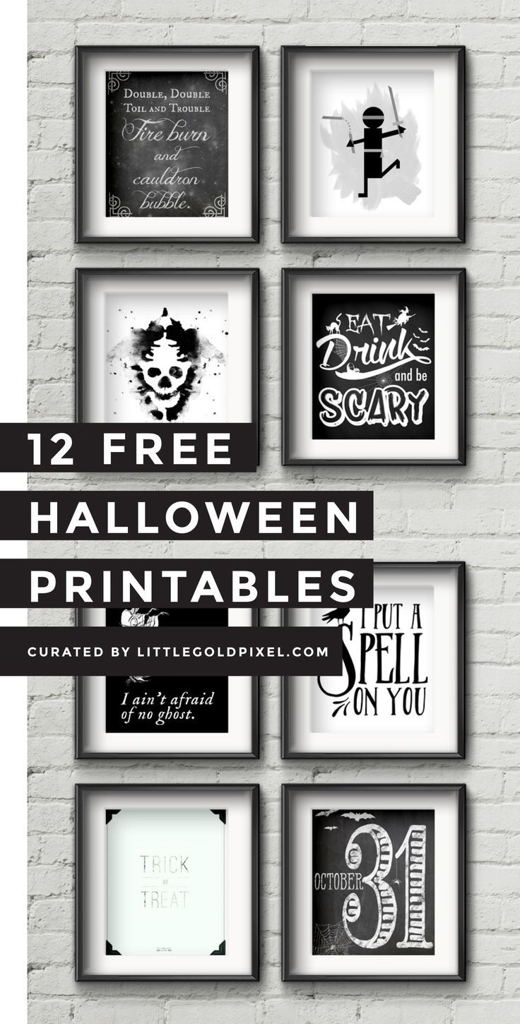 12 Free Halloween Printables | Free Printables | Halloween - Free Printable Halloween Decorations Scary