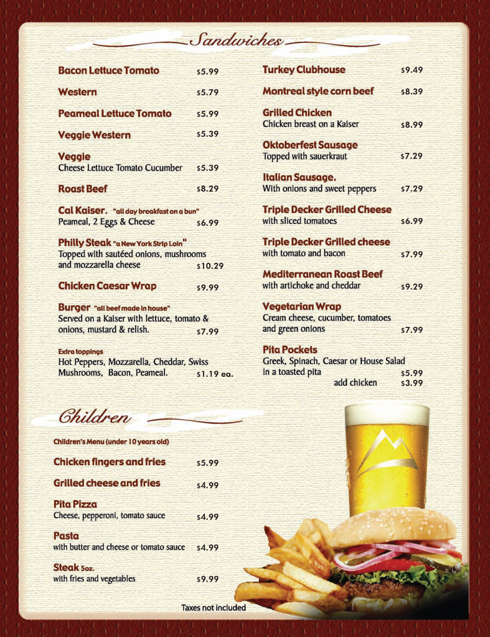 12 Free Menu Templates For Word | Survey Template Words Printable - Menu Template Free Printable Word
