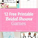 12 Free Printable Bridal Shower Games | Party Time | Pinterest   Free Printable Bridal Shower Games And Activities