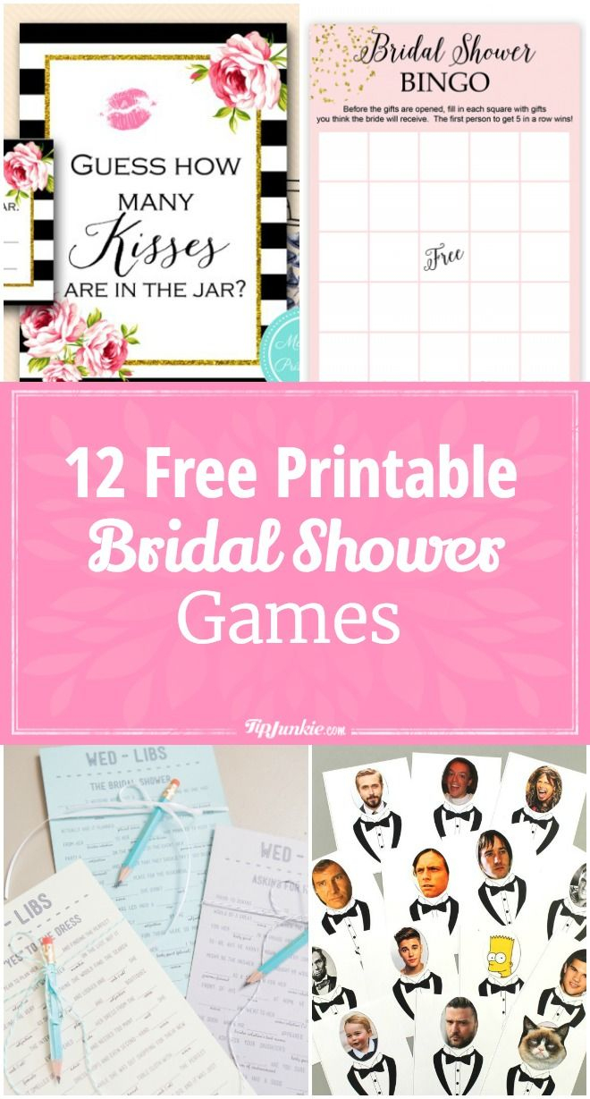 12 Free Printable Bridal Shower Games | Party Time | Pinterest - Free Printable Wedding Shower Games