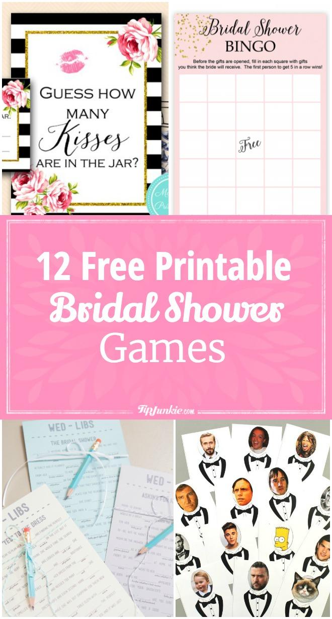 12 Free Printable Bridal Shower Games – Tip Junkie - How Many Kisses Game Free Printable