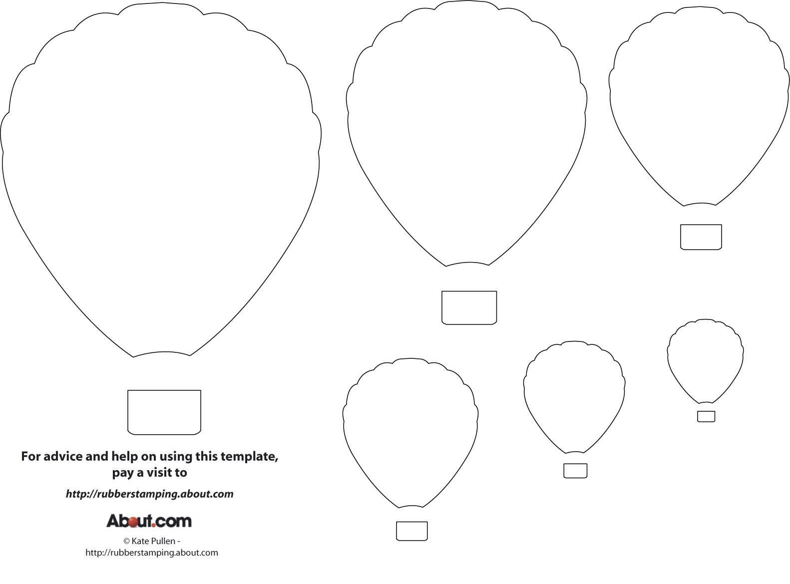 12 Free Printable Templates | Printables | Pinterest | Balloon - Free Shape Templates Printable