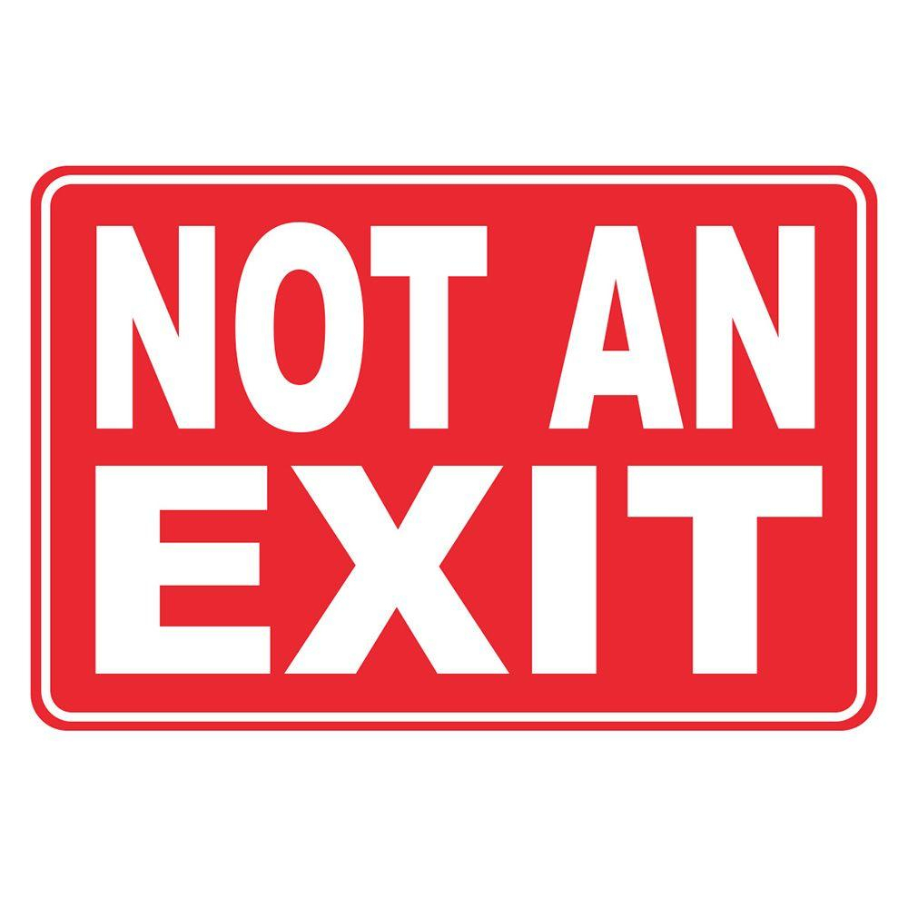 12 In. X 8 In. Plastic Not An Exit Sign-Pse-0091 - The Home Depot - Free Printable Not An Exit Sign