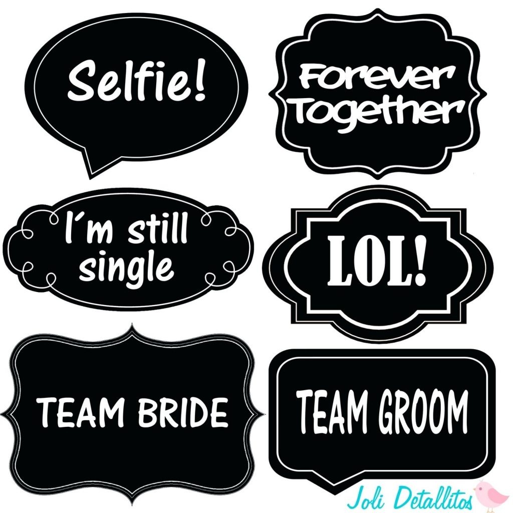 12 Lovely Wedding Photo Booth Props Printable Pdf For 2018 – Wedding - Free Printable Wedding Photo Booth Props