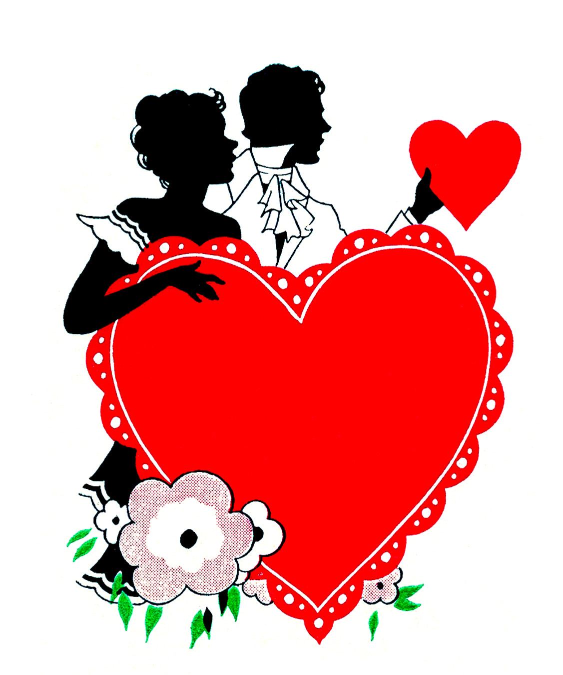 12 Vintage Valentine Silhouettes! - The Graphics Fairy - Free Printable Vintage Valentine Clip Art