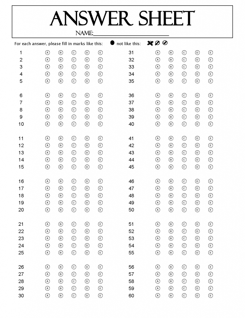 120 Question Answer Sheet · Remark Software | Free Printable - Free Printable Bubble Answer Sheets