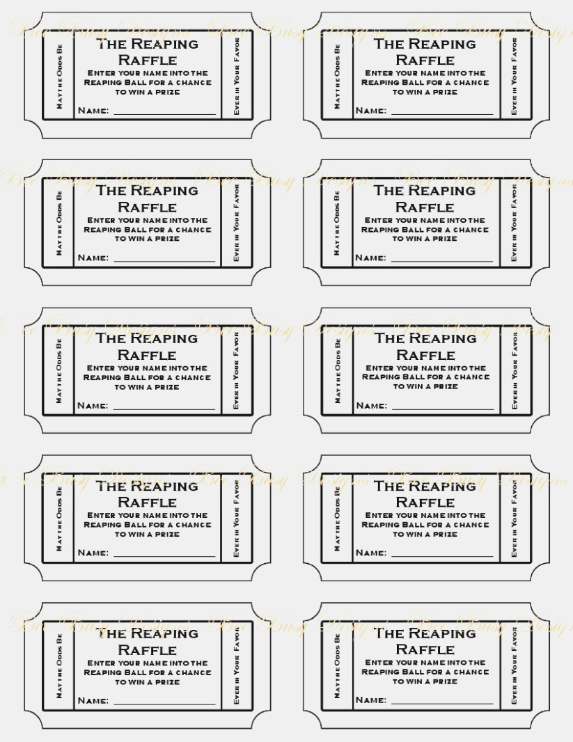 13 Best Images Of Free Printable Tickets With Numbers Diaper Raffle - Diaper Raffle Template Free Printable