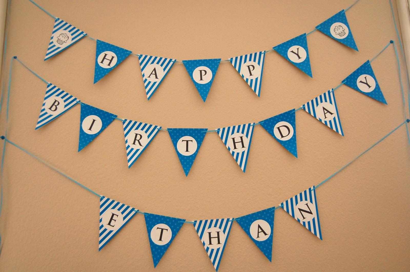 13 Happy Birthday Banner Design Images - Free Happy Birthday Banner - Birthday Banner Templates Free Printable