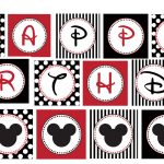 13 Printable Happy Birthday Mickey Mouse Font Images   Mickey Mouse   Free Printable Mickey Mouse Birthday Banner