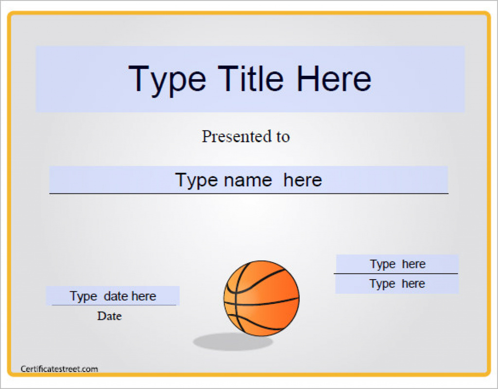 14+ Basketball Certificate Templates - Psd | Free & Premium - Basketball Participation Certificate Free Printable
