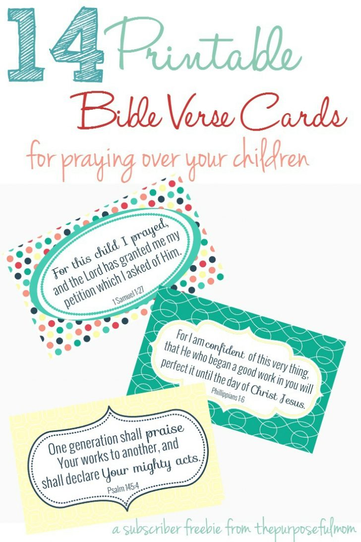 Free Printable Bible Verses For Children
