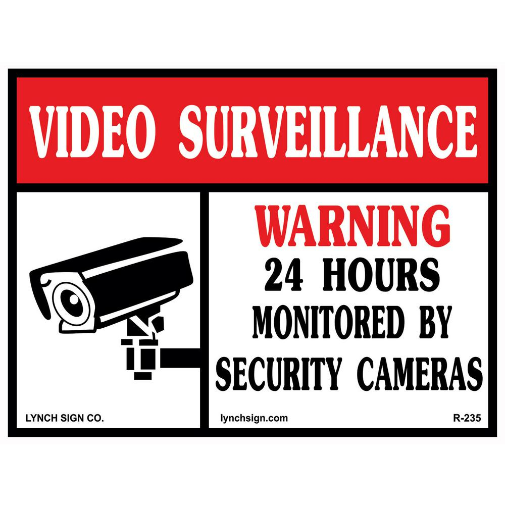 14 In. X 10 In. Video Surveillance Sign Printed On More Durable - Printable Video Surveillance Signs Free