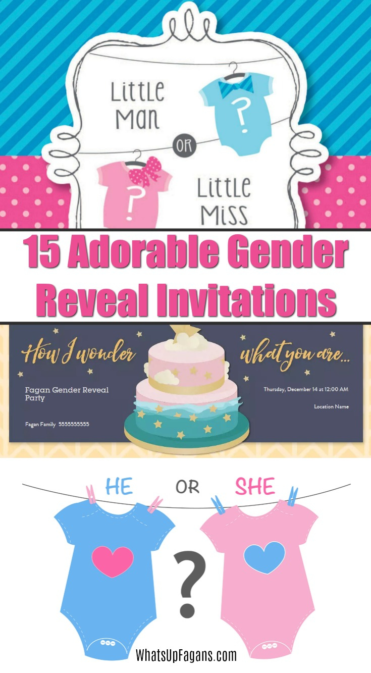 15 Adorable Baby Gender Reveal Party Invitations - Free Printable Gender Reveal Invitations